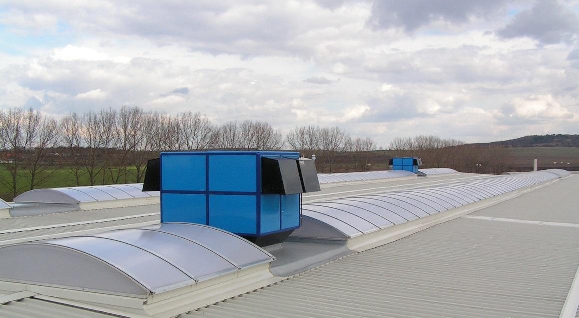CTS servis Okřínek, střecha a světlíky
