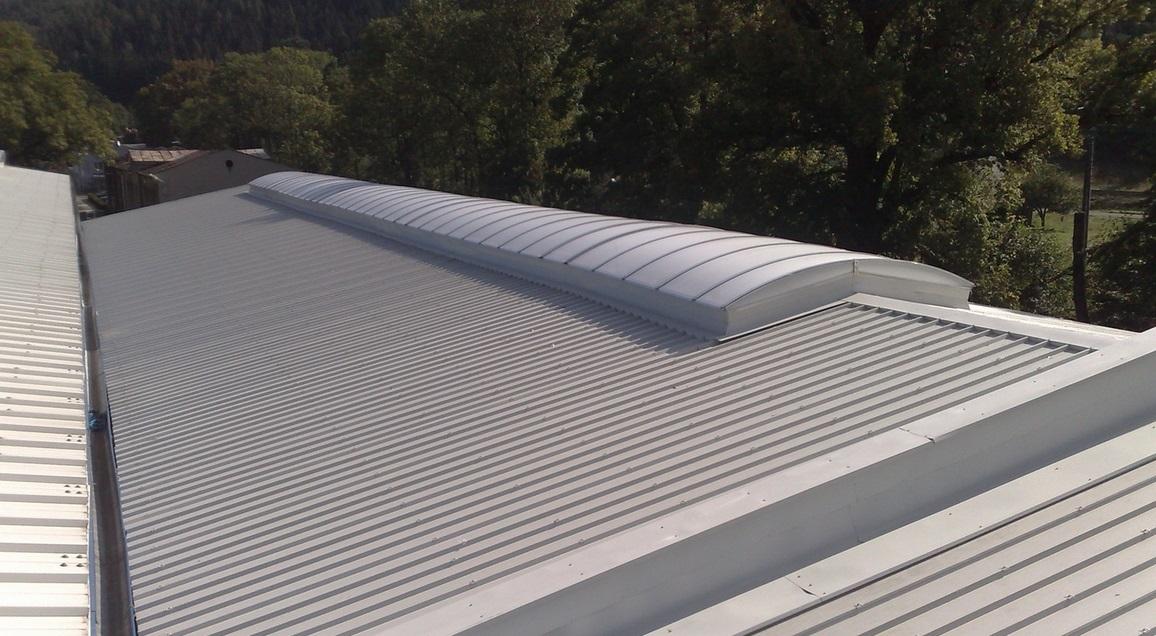 ZKL Hanušovice. střecha a světlík
